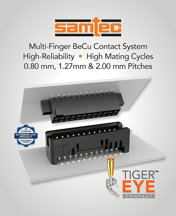 Samtec SFM/TFM Tiger Eye Contact connectors