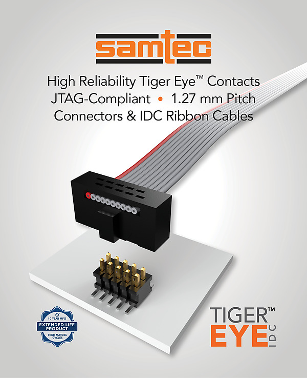 Samtec IDC JTAG connectors and cables FTSH / FFSD