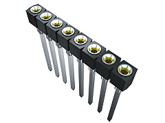 SS - 2.54 mm Single Row Screw Machine Socket Strip