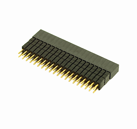 Surface Mount 2 Rows, 32 Contacts HW Series Header 2.54 mm Pack of 10 Board-To-Board Connector HW-16-08-L-D-250-SM