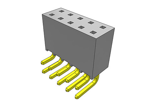 Right Angle SSQ-103-02-S-S-RA-LL Receptacle SSQ-103-02-S-S-RA-LL Board-To-Board Connector 2.54 mm Pack of 20 3 Contacts SSQ Series Locking Lead