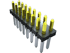 MTLW - 2.54 mm Low Profile Variable Post Height Terminal Strip / Header